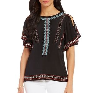 Gibson Latimer embroidered top size XS NWT